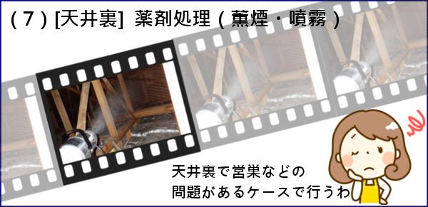 7.天井裏に野生動物が営巣したことが原因の場合に発生する作業です