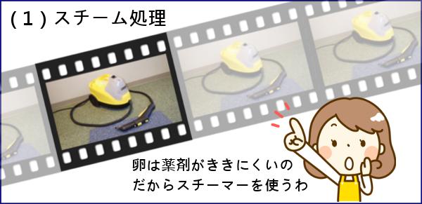 (1)スチーム処理
