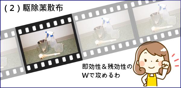 (2)トコジラミ駆除薬散布